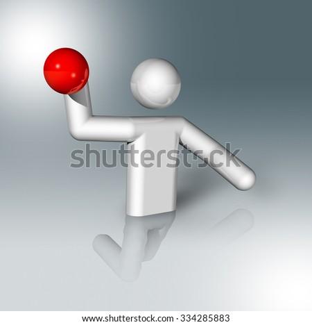three dimensional water polo symbol - stock photo