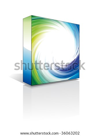 Three Dimentional Business Software Box - Environment Green Series - stock photo