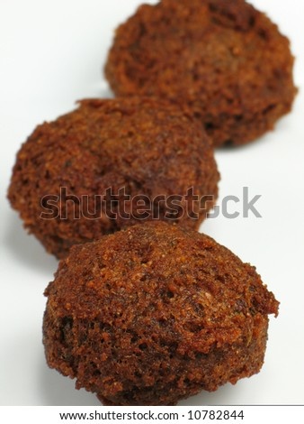 Three Falafels - stock photo