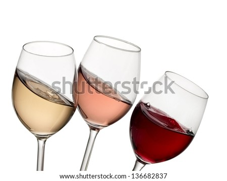 Rose Wine Images Red Rose And White Wine