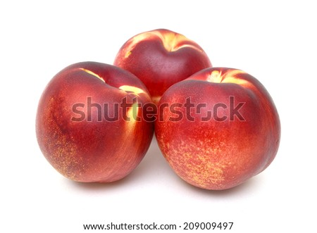 Three Nectarines - stock photo