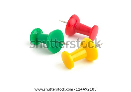 three pins - stock photo