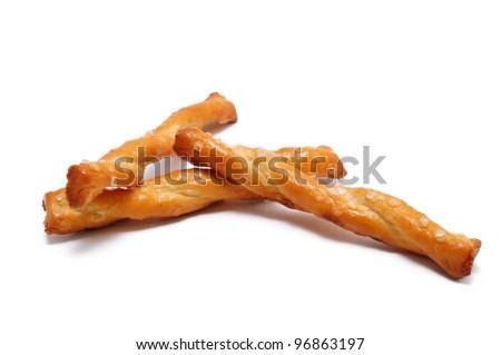 Three Pretzels Isolated on White - stock photo