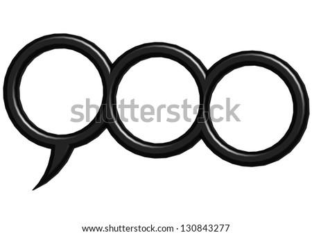 Three round bubble - stock photo