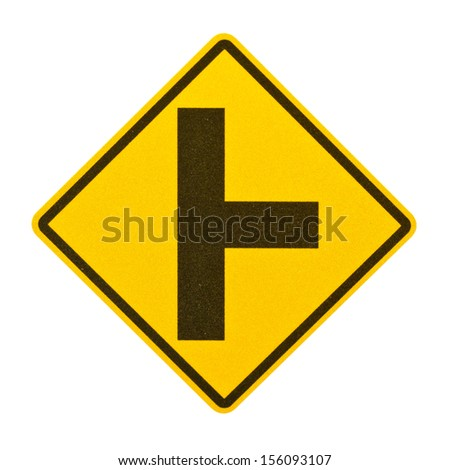 Three separate signs on white background - stock photo