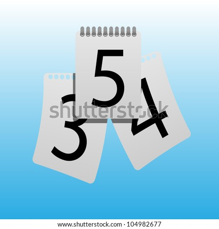 Three sheets of the calendar - stock photo