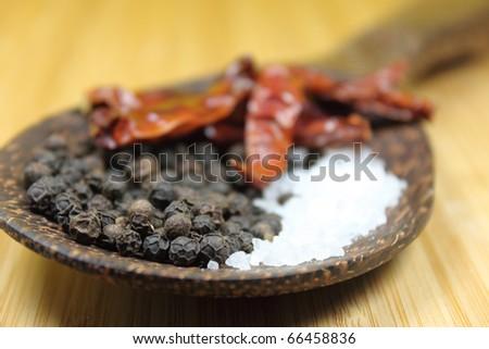 three spices - stock photo