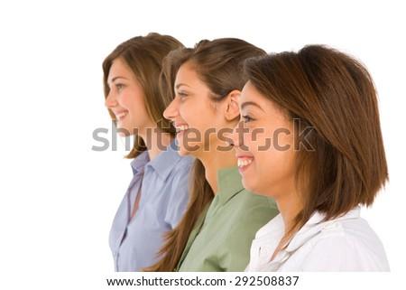 three teenage girls - stock photo