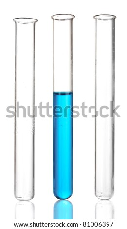 three tubes isolated on white - stock photo