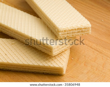 Three wafers. Shallow DOF. - stock photo