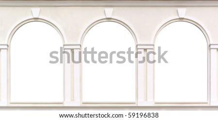 Three windows. Element of design. - stock photo