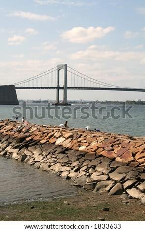 Throgs Neck Bridge - New York - stock photo