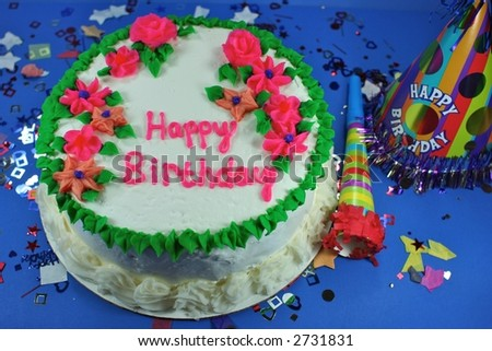 Throwing a Big Birthday Party - stock photo