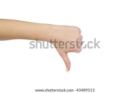 thumb down gesture - stock photo