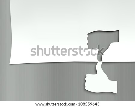 Thumb up and down, concept of different opinions - stock photo