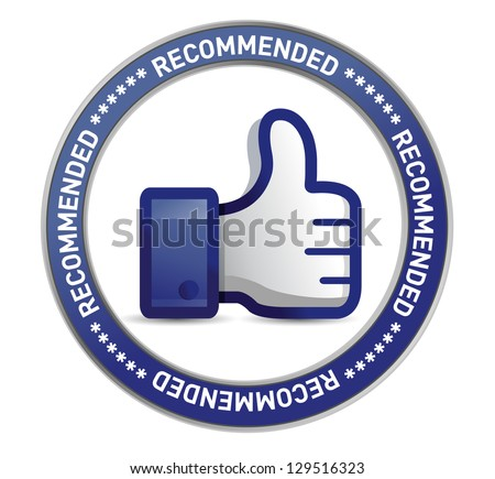 thumb up seal illustration design over a white background - stock photo