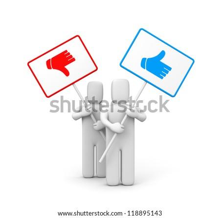 Thumb up sign - stock photo