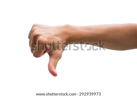 Thumbs Down - stock photo