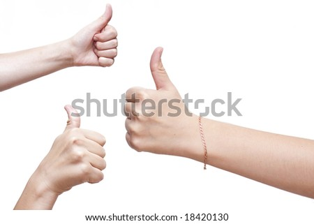 thumbs up! - stock photo