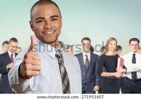 Thumbs Up, Business, Occupation. - stock photo