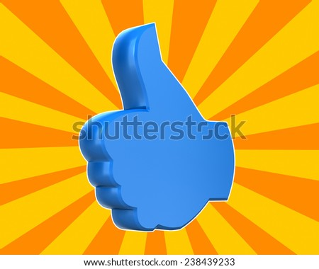 thumbs up like icon ,social media - stock photo