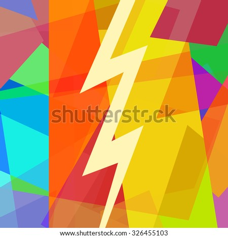 Thunder and lightning bolt - stock photo