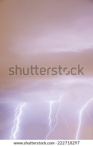 thunder and lightning storm in the chaos - stock photo