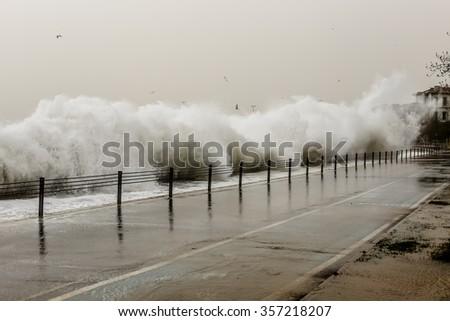 Thunder and Waves - stock photo