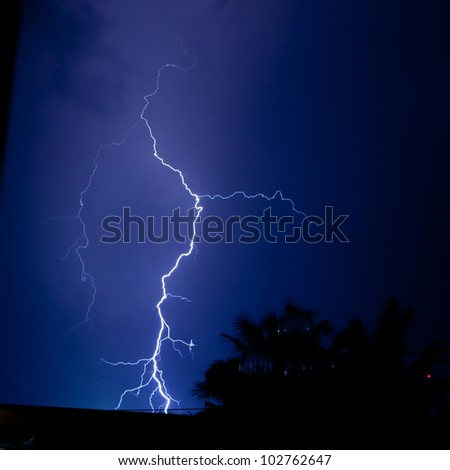 Thunder bolt - stock photo