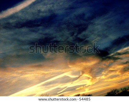 Thunder Cloud sky - stock photo