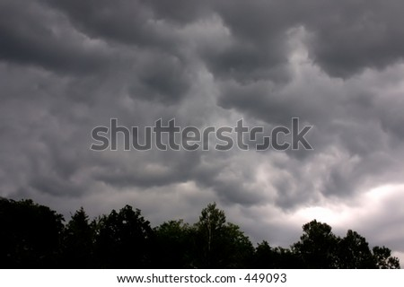 Thunderstorm approaching - stock photo