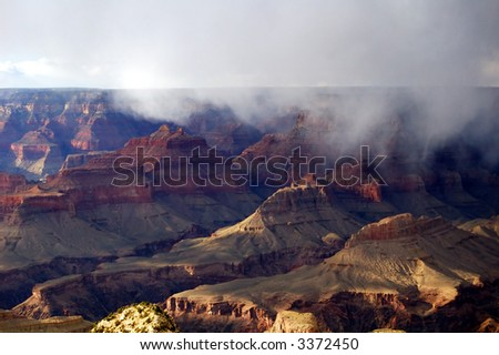 Thunderstorm in the Grand Canyon - stock photo