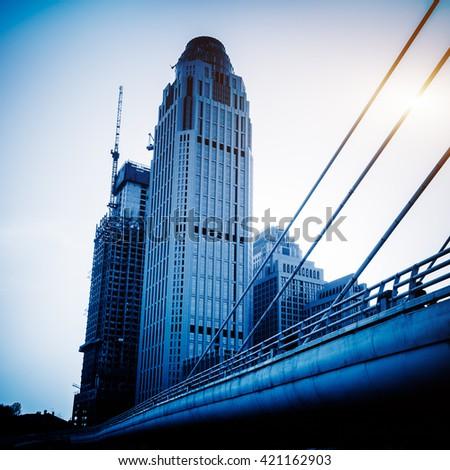 tianjin modern building - stock photo