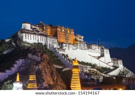Tibet Potala Palace - stock photo