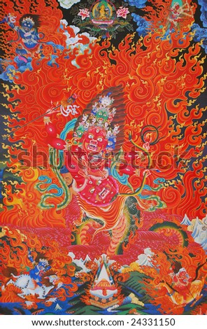 Tibetan mandala - stock photo
