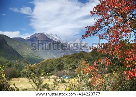 Tibetan plateau scenery   - stock photo