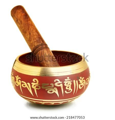 Tibetian singing bowl - stock photo