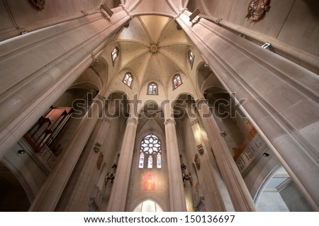 Tibidabo temple, Barcelona, Spain - stock photo