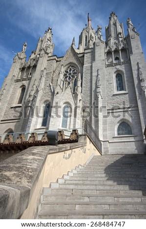 Tibidabo temple.Barcelona.Spain - stock photo