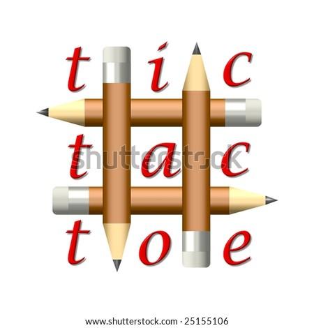 Tic tac toe - stock photo