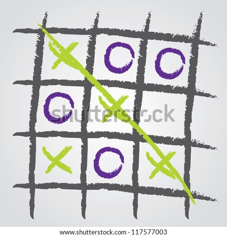 Tic tac toe background design - stock photo