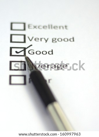 Tick placed in good - stock photo