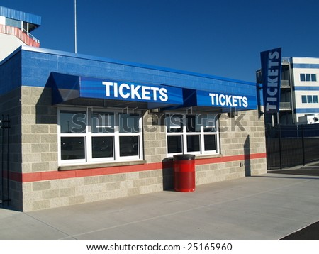 Ticket Booth - stock photo