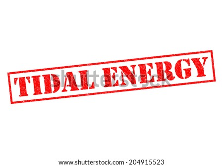 TIDAL ENERGY red Rubber Stamp over a white background. - stock photo