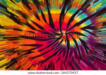Tie Dye Abstract Design Extrusion - stock photo