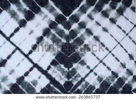 tie dyed pattern on cotton fabric for background.  - stock photo