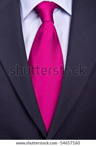 tie pink - stock photo