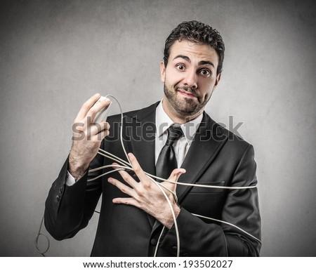tied businessman - stock photo