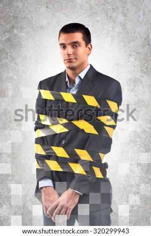 Tied up Businessman. - stock photo