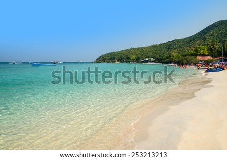 Tien beach, Larn island, Pattaya, Chonburi, Thailand - stock photo